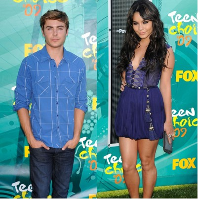 Zac Efron y Vanessa Hudgens en los Teen Choice Awards