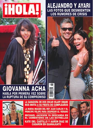 Alejandro Fernández y Ayari en Revista HOLA