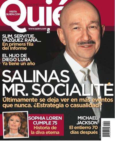 Carlos Salinas de Gortari en Revista Quién