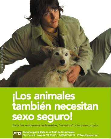 Diego Luna en campaña de PETA