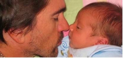 Juanes y su hijo Dante