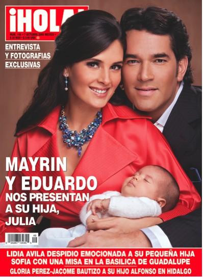 Mayrin Villanueva y Eduardo Santamarina presentan a su hija