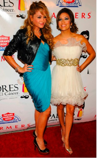 Paulina Rubio con Eva Longoria