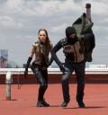 escenas de accion Belinda y Poncho
