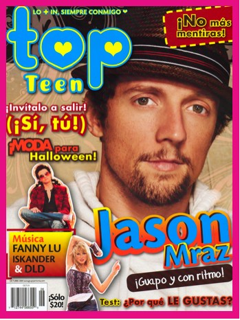 Jason Mraz en revista Top Teen