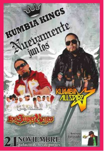 Kumbia Kings 21 de Noviembre en el Palacio de los Deportes