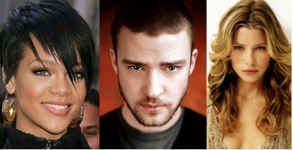Rihanna, Justin y Jessica