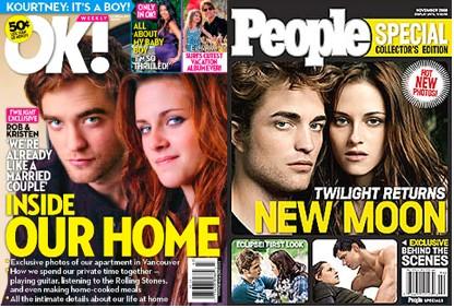 Robert Pattinson y Kristen Stewart en portadas