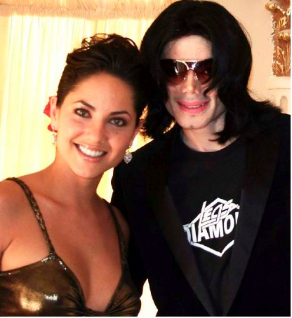 Bárbara Mori con Michael Jackson