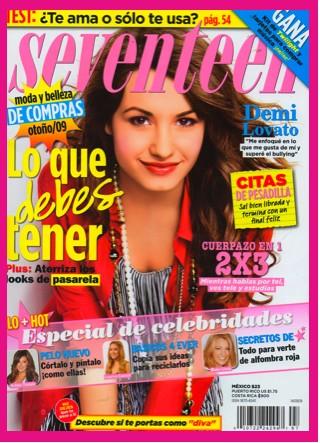 Demi Lovato en Seventeen