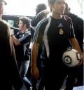 Jonas Brothers con playeras del Real Madrid