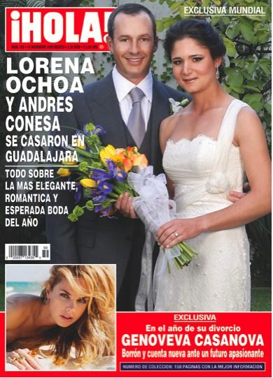 La boda de Lorena Ochoa en la Revista Hola