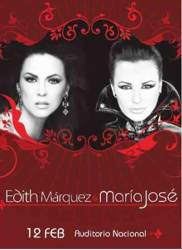 María José y Edith Marquez en el Auditorio Nacional