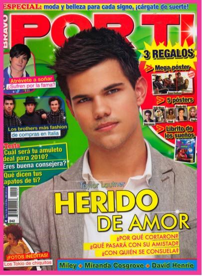 Taylor Lautner en Revista Por Ti