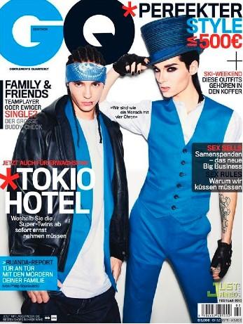 Tokio Hotel en Revista GQ