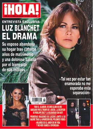 La separación de Luz Blanchet y su esposo en Revista HOLA
