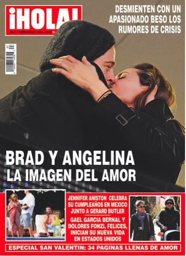 Brad Pitt y Angelina Jolie en Revista HOLA