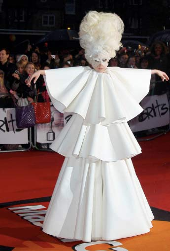 Lady Gaga de Blanco