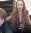 Belinda con su hermano