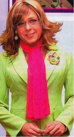 Rodrigo Vidal vestido de mujer