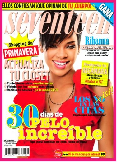 Rihanna en Portada de Seventeen