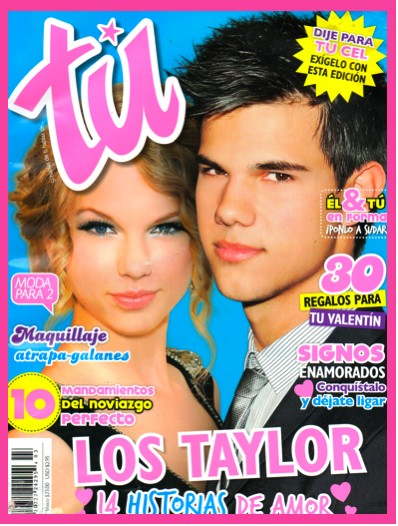 Taylor lautner y taylor swift en la revista t tv y for Chismes del espectaculo en mexico
