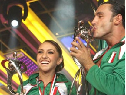Latin Lover y su pareja de baile
