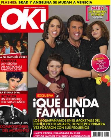 Lucero y Mijares en familia en Revista OK!