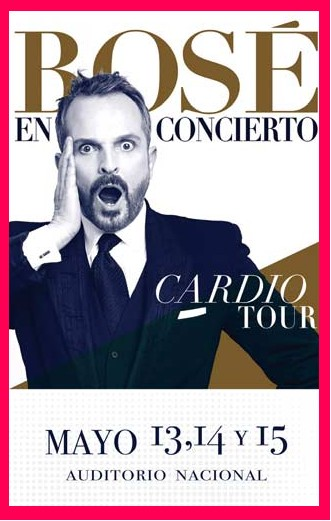 Miguel Bosé Cardio Tour en Auditorio Nacional