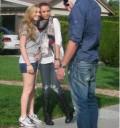 Miley Cyrus con una fan