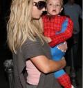 Hijos de Britney Spears vestidos de Spiderman