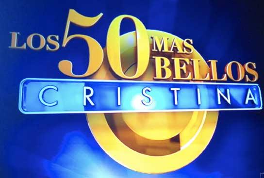 Los 50 más bellos en el show de Cristina