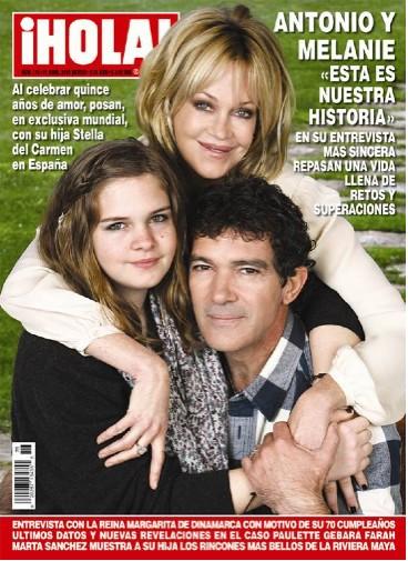 Antonio Banderas y Melaie en Revista Hola