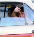 Dulce María usa taxi