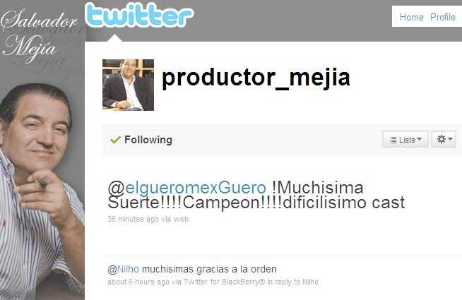 Twitter de Salvador Mejía