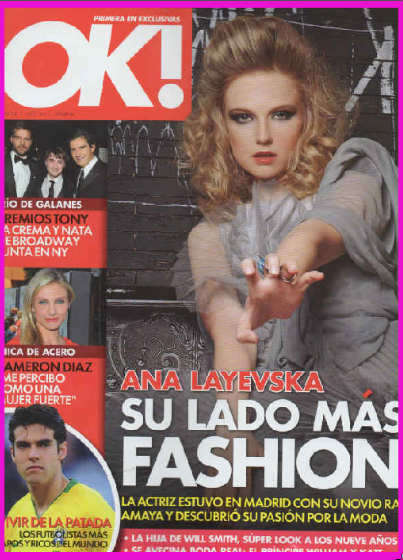 Ana Layevska en revista OK