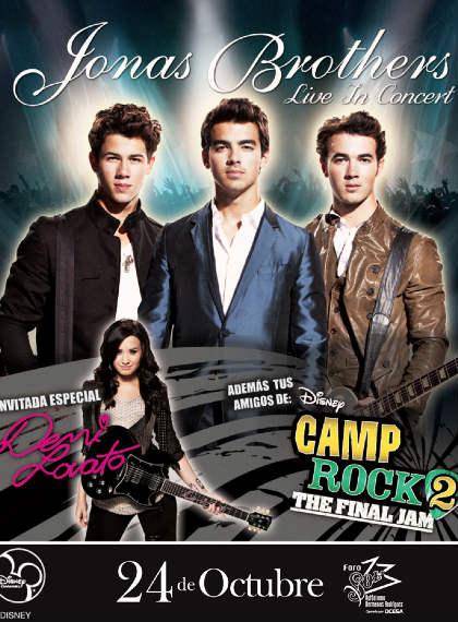 Jonas Brothers 24 de Octubre en Foro Sol