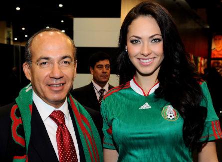 Felipe Calderon en el Mundial Sudafrica