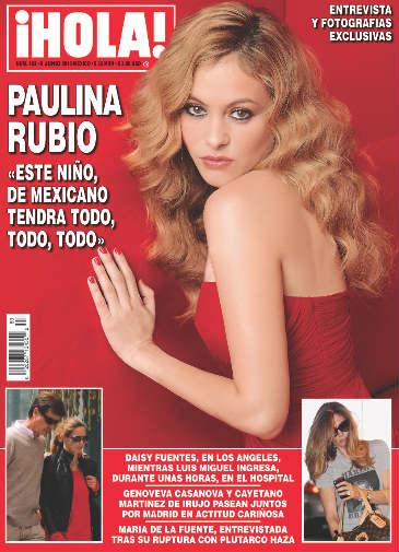 Paulina Rubio en portada de HOLA