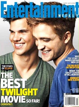 Robert Pattison y Taylor Lautner en Revista EW