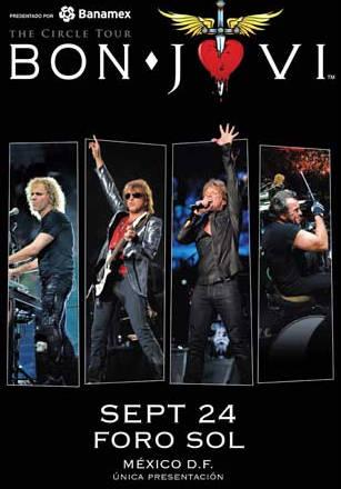Bon Jovi en el Foro Sol 24 de septiembre
