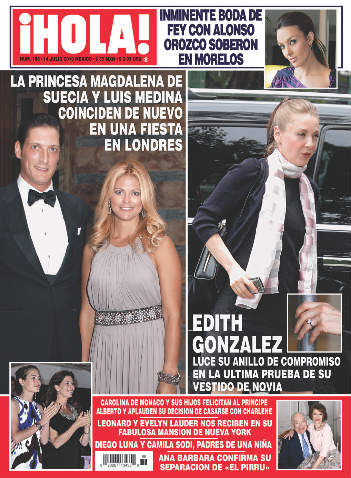 Edith González luce anillo de compromiso
