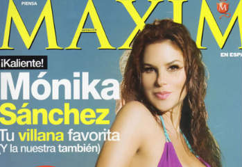 Monica Sanchez en Revista Maxim