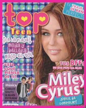 Miley Cyrus en Revista Top Teen