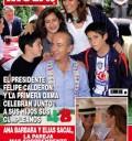 Felipe Calderón y su Familia en Revista HOLA