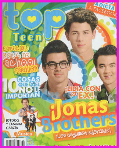 Jonas Brothers en revista Top Teen
