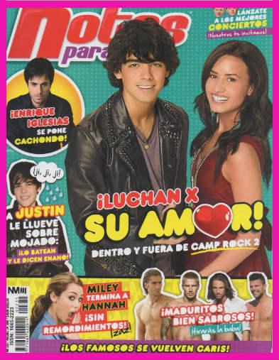 Joe Jonas y Demi Lovato en Revista Notas pata Ti