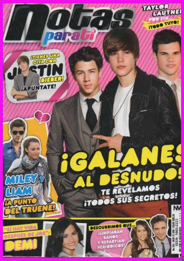 Justin Bieber, Taylor y Nick Jonas en Notas para ti