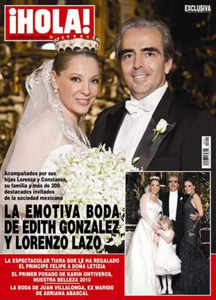 La boda de Edith González en Revista Hola