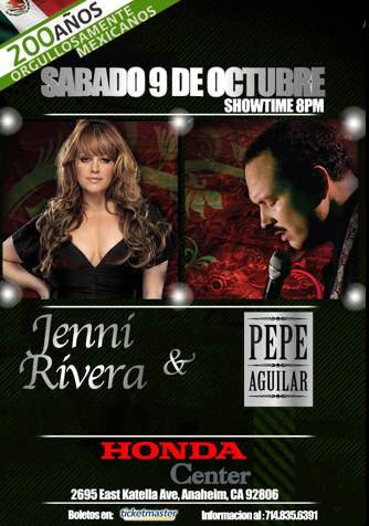 Jenni Rivera y Pepe Aguilar en Concierto